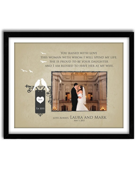 Wedding Gift For Parents Of Bride Thank You Gift For Parents