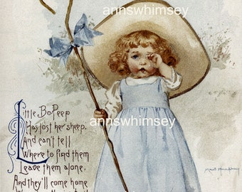 Nursery Art, Baby's Room Art, Little Girl's Room Art Nursery Rhymes RESTORED Art #317  (Set Two)