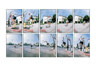 80s Skate Photo - Natas Kaupas - Eighties Skateboarding Photograph 18 x 24 Inch Print - J Grant Brittain Skateboarding Photo
