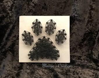 Mini Paw Print String Art  |  MADE TO ORDER