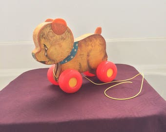 Vintage 1966 Fisher Price pulltoy CryBaby Bear