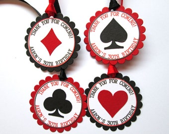 Casino Party Decor,  Casino Gift Tags, Casino Birthday, Casino Theme Party Tags, Casino Night, Poker Party, Las Vegas Wedding Favor Tags