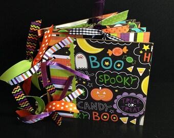 Halloween Scrapbook Photo Album Memory Book Chipboard 6x6 Keepsake