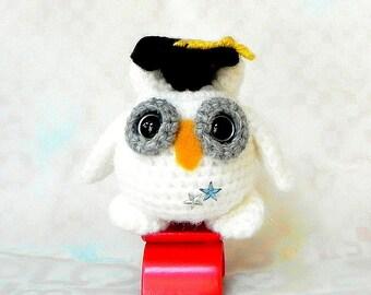 Crochet amigurumi pattern - Smarty Snow Owl - Amigurumi animal pattern / PDF