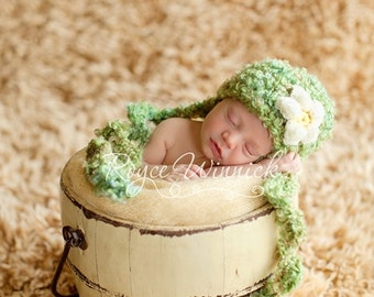 Daisy Hat Crochet Photography Prop Ready Item