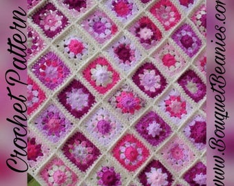 PDF Crochet Pattern - Heirloom Granny Scrap-ghan Crochet Blanket Pattern