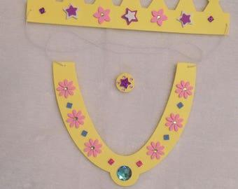 Kit créatif pour enfant en mousse - déguisement Princesse Reine Fille