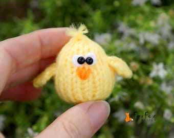 Tiny chick Easter dollhouse miniature chick Easter gift Stuffed chick Easter Chick Tiny animal Easter miniature animal Easter chicken decor