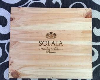 Wooden wine panel- Solaia