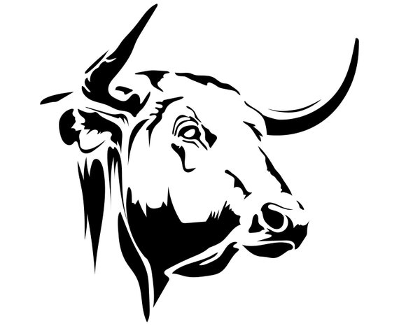 Bull Head SVG, Bull SVG, Silhouette, SVG, Graphics