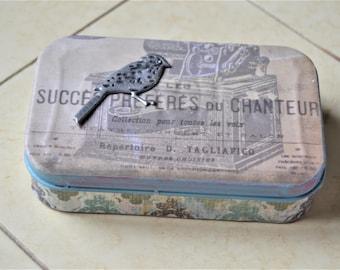 ALTERED ALTOID TIN Decoupaged Tin Storage Box Gift Card Holder