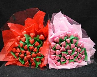 Chocolate Heart Flower Bunch