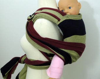 Wrap conversion reverse rings onbu - Lenny Lamb Barberry, Navy, burgundy, pale yellow