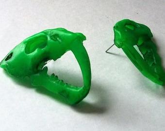 Day-Glo Beastie earrings