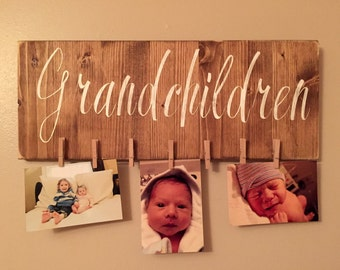 Grandparents/Granchildren Sign with clips