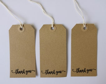 Large Kraft Thank You Tags / Set of 20