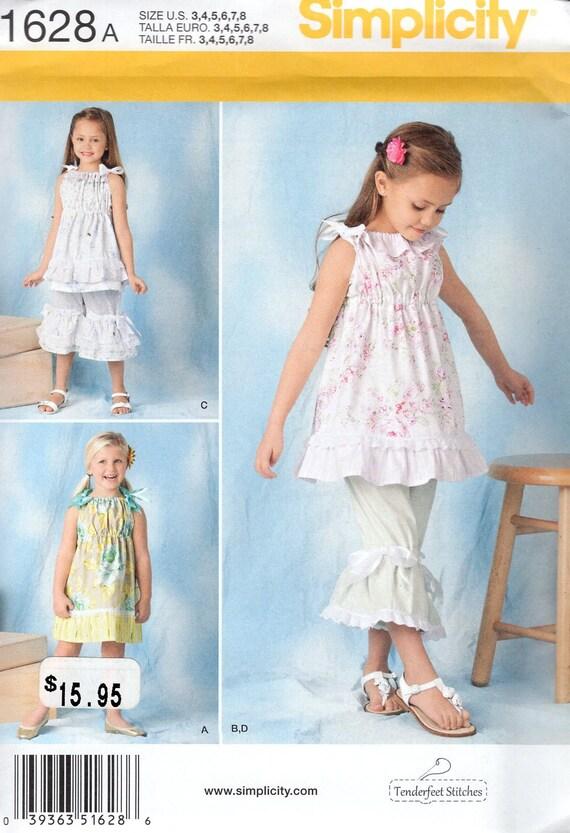 FREE US SHIP Sewing Pattern Simplicity 1628 Uncut New Girls