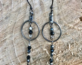 Czech glass bead earrings