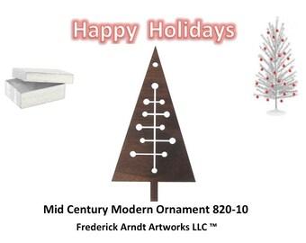 820-10 Mid Century Modern Christmas Ornament