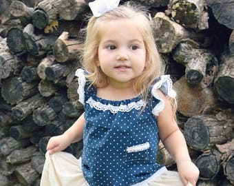 Boho Flower Girl Dress | De Atelier Baby | Peasant Dress | Size 4 Babygirl | Ellie Ann and Lucy