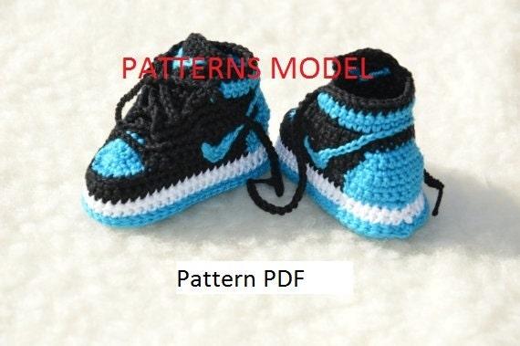 CROCHET PATTERN Nike Air Jordan 1 Häkeln Baby Booties Muster