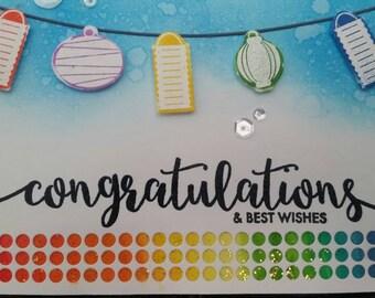 Congratulations lantern card