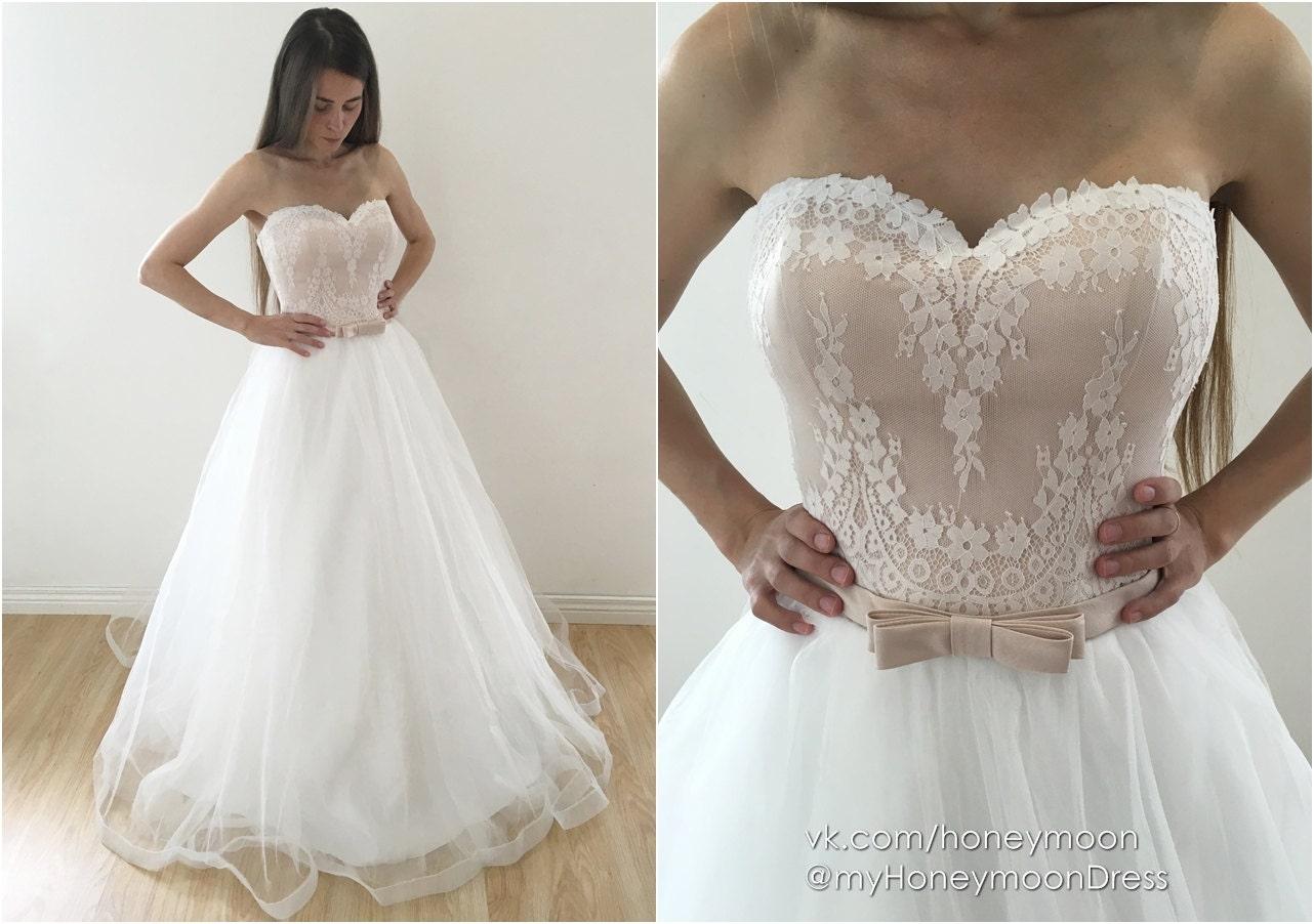 Brautkleid Brautkleid Blüte Champagner Hochzeitskleid von
