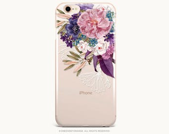 iPhone 8 Case iPhone X Case iPhone 7 Case Fall Floral Clear GRIP Rubber Case iPhone 7 Plus Clear Case iPhone SE Case Samsung S8 Case U300