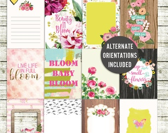 Bloom - Journal Cards - Instant Download - Printable journaling cards for Project Life and digital scrapbooking