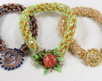 KIT: Turkish Delight Bead Crochet Bracelet
