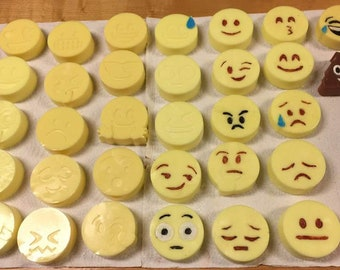 Emojies Galore- Set of 32 Soaps!