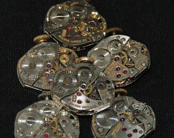 Vintage Antique Watch Movements Steampunk Altered Art RT 35
