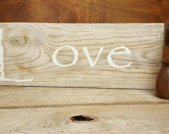 Love Sign, Wood Love Sign, Rustic, Love Decor, Home decoration