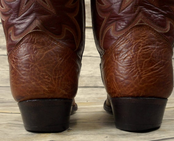 Nocona 9 Brown EE Boots Extra Size USA Wide Mens Leather Western Cowboy Country q6TYwxn6