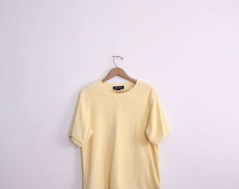 Pale Yellow Terry Cloth Sweatshirt
