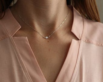 Gold Choker, Silver Choker Necklace, Dainty Choker Necklace, Small CZ, Tiny Cubic Zirconia, Fake Diamond, Dainty Necklace, N01