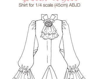DCP08 - MSD size Petal Shirt pattern Digital Download