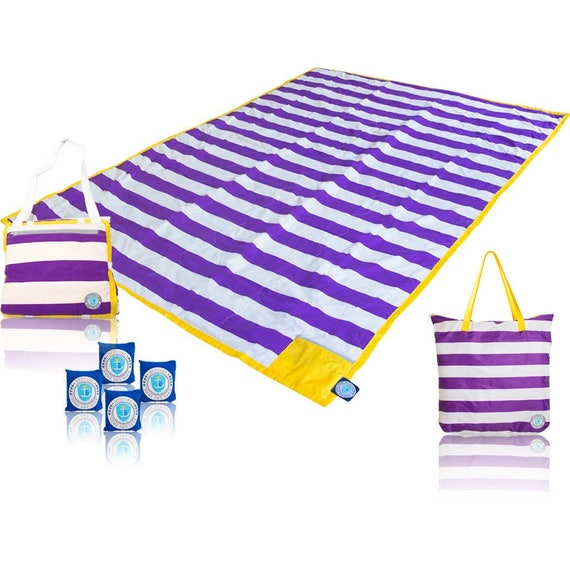 Brilliant Picnic Blanket in Purple and Gold