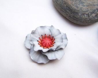 Light grey and orange poppy (No.1)