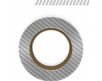 Glitz Design Black & White Washi Tape - Gray Stripes -- MSRP 4.50