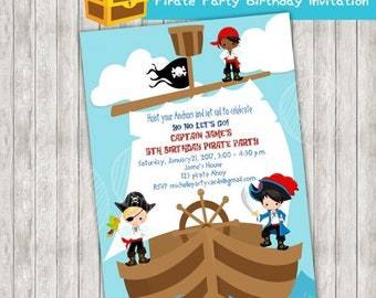 50%Off Pirate Party Birthday Invitation, Pirates Invite, Captain Party, Pirate Party, Pirate Birthday, Pirate Boys, Pirate Invitation, Birth