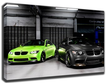 BMW E92 M3 Canvas/Poster Wall Art Pin Up HD Gallery Wrap Room Decor Home