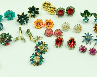 Estate Lot of Vintage Costume Jewelry Earrings  23 pairs Kenneth Lane, Marboux,   Beaujewels, Norma Jean, Napier, Juliana