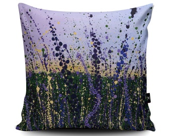 Wild Lilac Handmade Cushion by Tracey Cooper | Lilac Pillow | Purple Lilac Cushion Cover | Floral Pillow Case | Flower Cushion