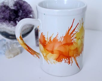 Large Hand Painted Mug, Cute Gift