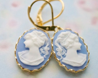 Emma Sky Cameo earrings  -14kt Gold filled