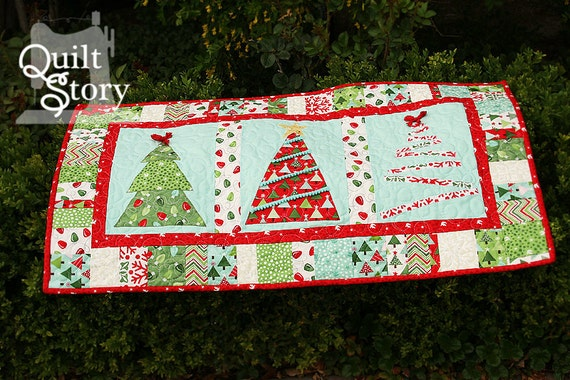 Items Similar To Pdf Quilt Pattern Christmas Modern