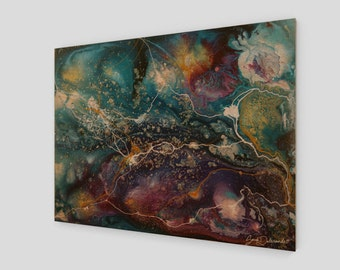 Nebulas | Wood Print | Painting | Abstract Art Print | Abstract Painting Galaxy Art Modern Contemporary Space Constellation Star