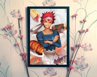 Food Wars: Shokugeki no Soma Fan Art Print