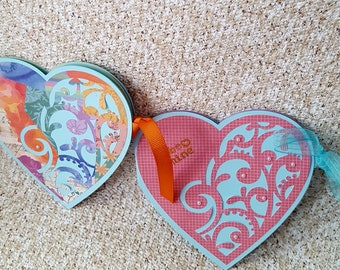 Set of heart shaped cards